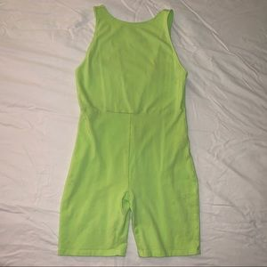 Neon green Forever 21 romper size L